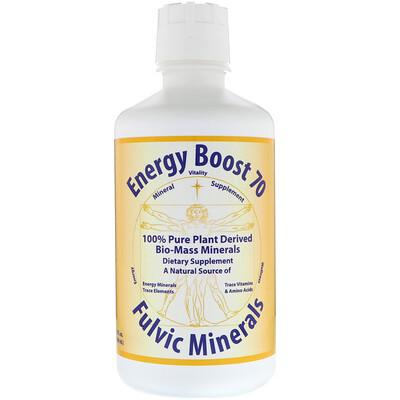 Morningstar Minerals Energy Boost 70, фульвое минералы, 32 жидких унции (946 мл)