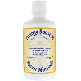 Morningstar Minerals, Energy Boost 70, Minéraux fulviques, 32 fl oz (946 ml)