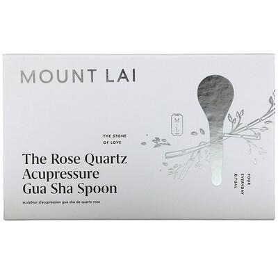 Mount Lai The Rose Quartz Acupressure Gua Sha Spoon, 1 Tool  - купить со скидкой