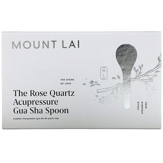 Mount Lai, The Rose Quartz Acupressure Gua Sha Spoon, 1 Tool