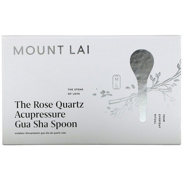 The Rose Quartz Acupressure Gua Sha Spoon, 1 Tool