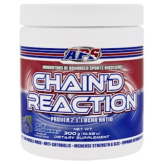 APS, Chain'd Reaction, BCAA, Blue Raspberry, 10.58 oz (300 g)