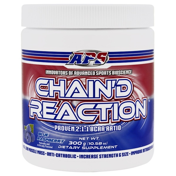 APS, Chain'd Reaction,支鏈氨基酸,樹莓味,10、58盎司(300克)