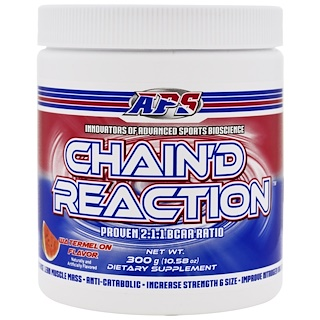 APS, Chain'd Reaction, BCAA, Watermelon Flavor, 10.58 oz (300 g)