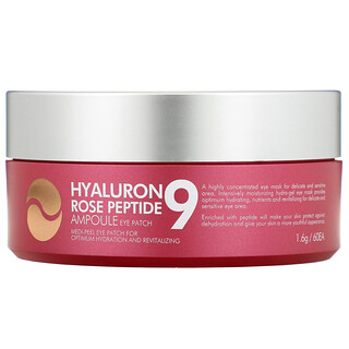 Medi-Peel, Hyaluron Peptide 9, Ampoule Eye Patch, Rose, 60 Patches