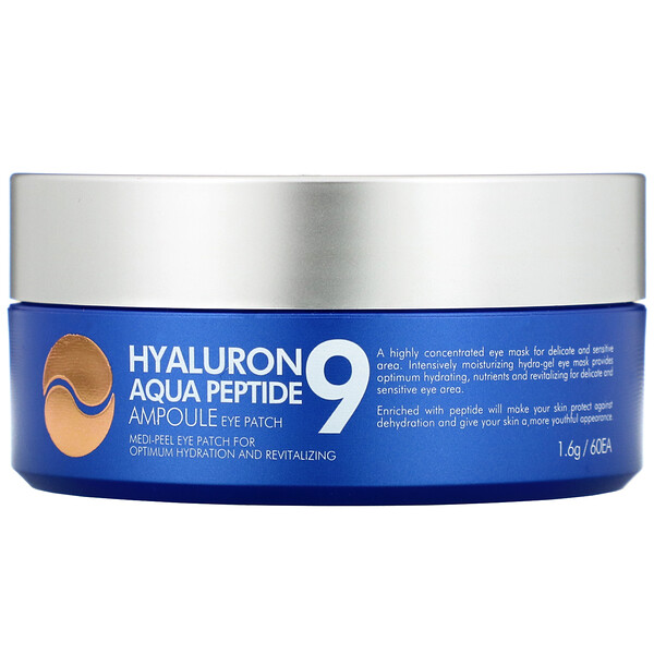 Hyaluron Peptide 9, Ampoule Eye Patch, Aqua, 60 Patches