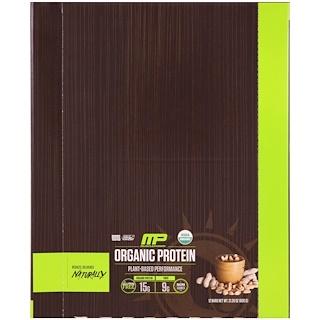 MusclePharm Natural, Organic Protein Bar, Peanut Butter, 12 Bars, 21.20 oz (600 g)