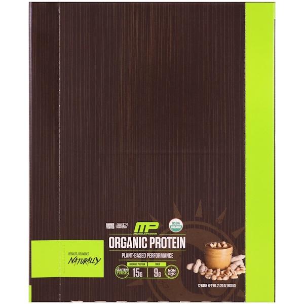 MusclePharm Natural, 有機蛋白棒,花生醬,12條,21、20盎司(600克)