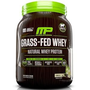 Мускле Фарм Натурал, Grass-Fed Whey, Natural Whey Protein Powder Drink Mix, Vanilla, 1.85 lbs (840 g) отзывы