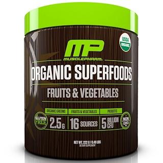 MusclePharm Natural, Органические суперпродукты, фрукты и овощи, 222 г (0,49 фунта)