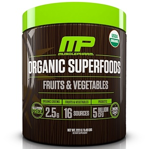 Мускле Фарм Натурал, Organic Superfoods, Fruits & Vegetables, 0.49 lbs (222 g) отзывы