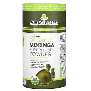 Miracle Tree, 100% Organic Moringa Superfood Powder, 8 oz (226.8 g)