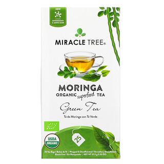 Miracle Tree, Moringa Organic Superfood Tea, Green Tea, Decaffeinated, 25 Tea Bags, 1.32 oz (37.5 g)