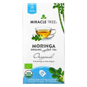 Miracle Tree, Moringa Organic Superfood Tea, Original, Caffeine Free, 25 Tea Bags, 1.32 oz (37.5 g)'