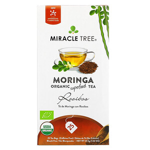 Miracle Tree, Moringa Organic Superfood Tea, Rooibos, Caffeine Free, 25 Tea Bags, 1.32 oz (37.5 g)