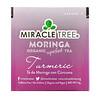 Miracle Tree, Moringa Organic Superfood Tea, Turmeric, Caffeine Free, 25 Tea Bags, 1.32 oz (37.5 g)