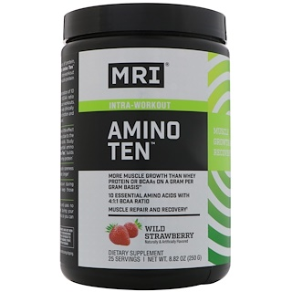 MRI, Amino Ten, Wild Strawberry, 8.82 oz (250 g)