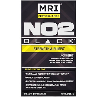 MRI, MRI Peformance, NO2 Black, 180 Caplets