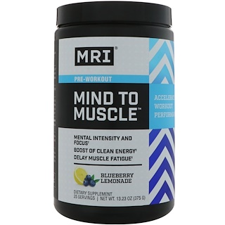 MRI, Mind To Muscle Pre-Workout, Blueberry Lemonade, 13.23 oz (375 g)