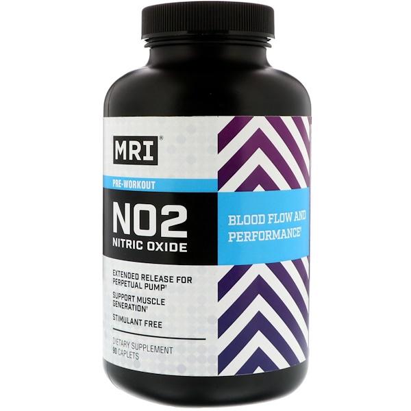 MRI, NO2一氧化氮訓練前,90錠
