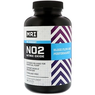 MRI, NO2 Nitric Oxide Pre-Workout, 180 Caplets