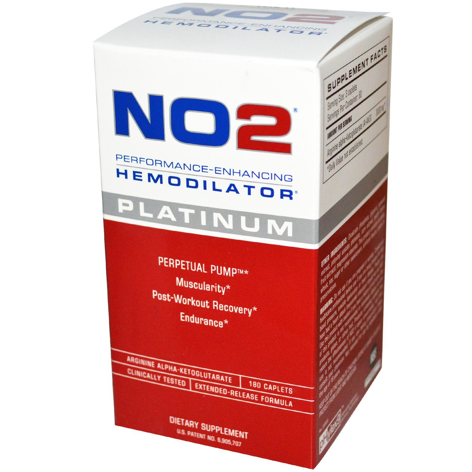 MRI NO2 Performance Enhancing Hemodilator Platinum 180 Caplets Discontinued Item