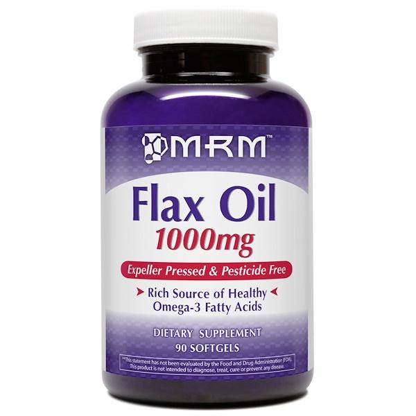 MRM, Flax Oil, 1000 mg, 90 Softgels (Discontinued Item)