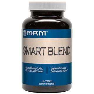 MRM, スマートブレンド、アドバンスドオメガ-3やCLA、GLAの脂肪酸複合体、ソフトジェル120個