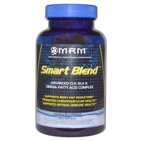 MRM, スマートブレンド™, 先進 CLA, GLA & オメガ脂肪酸複合体, 120 ソフトジェル