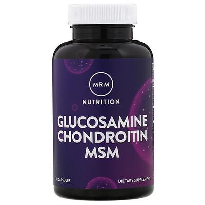 Купить Nutrition, витамины с глюкозамином и хондроитином Glucosamine Chondroitin MSM, 90 капсул