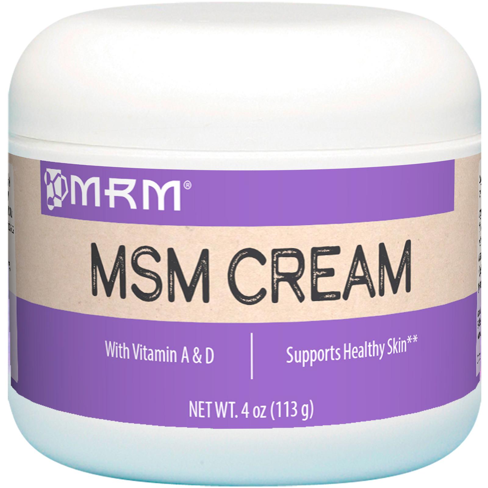 MRM, MSM Cream, 4 oz (113 g) - iHerb com