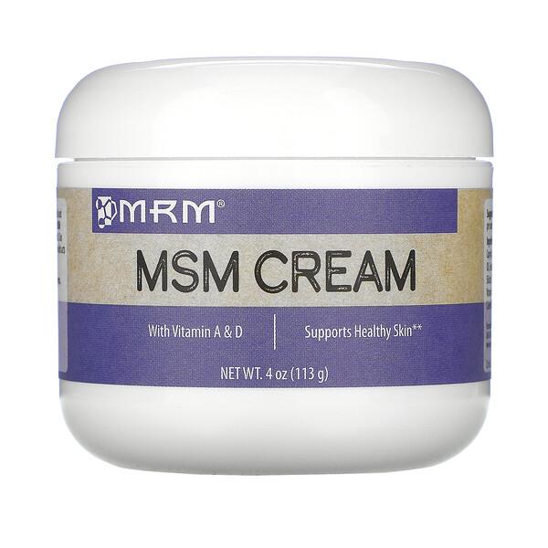 קרם MSM, (מתיל-סולפוניל-מתאן), 113 גרם (4 oz)