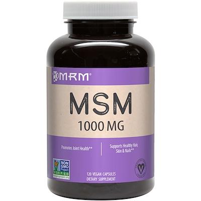 Купить Метилсульфонилметан, 1000 мг, 120 растительных капсул