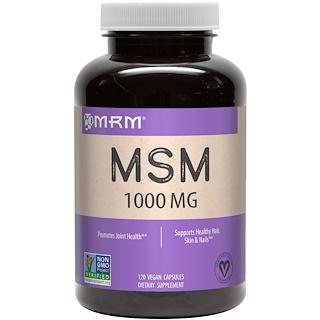 MRM, MSM, 1,000 mg, 120 Vegan Capsules