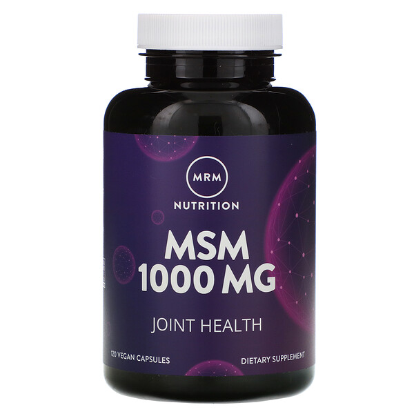 MRM, Nutrition, MSM, 1,000 mg, 120 Vegan Capsules