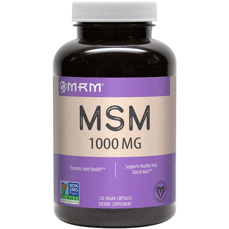 MSM, 1,000 mg, 120 Vegan Capsules