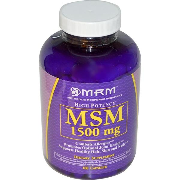 MRM, MSM, 1500 mg, 160 Capsules (Discontinued Item)