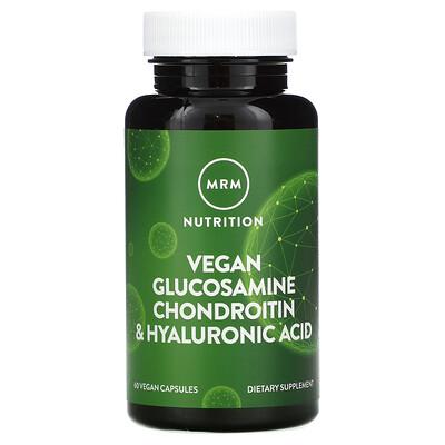 MRM Vegan Glucosamine Chondroitin & Hyaluronic Acid, 60 Vegan Capsules
