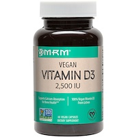 Веганский витамин D3, 2,500 МЕ, 60 веганских капул - фото