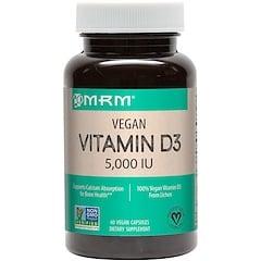 MRM, Vitamina D3 vegana, 5000 IU, 60 cápsulas veganas