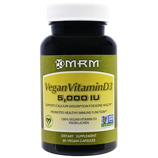 MRM, Vegan Vitamin D3, 5,000 IU, 60 Vegan Caps