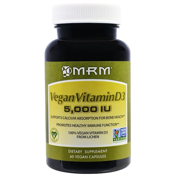 MRM, Vegan Vitamin D3, 5,000 IU, 60 Vegan Caps