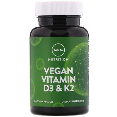 Фото Веганские витаминыD3 и К2, 60 растительных капсул