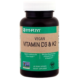 MRM, Vegan Vitamin D3 & K2, 60 Vegan Capsules