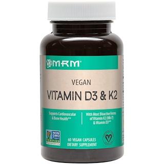 MRM, فيتامين د3 وك2 نباتي، 60 كبسولة نباتية
