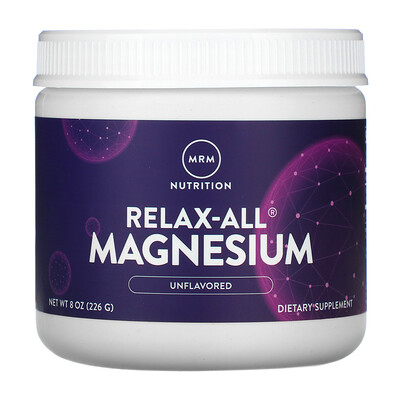 MRM Relax-All Magnesium, Unflavored, 8 oz (226 g)
