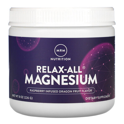 MRM Relax-All Magnesium, Raspberry Infused Dragon Fruit, 8 oz (226 g)