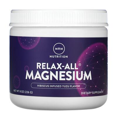 MRM Relax-All Magnesium, Hibiscus Infused Yuzu, 8 oz (226 g)