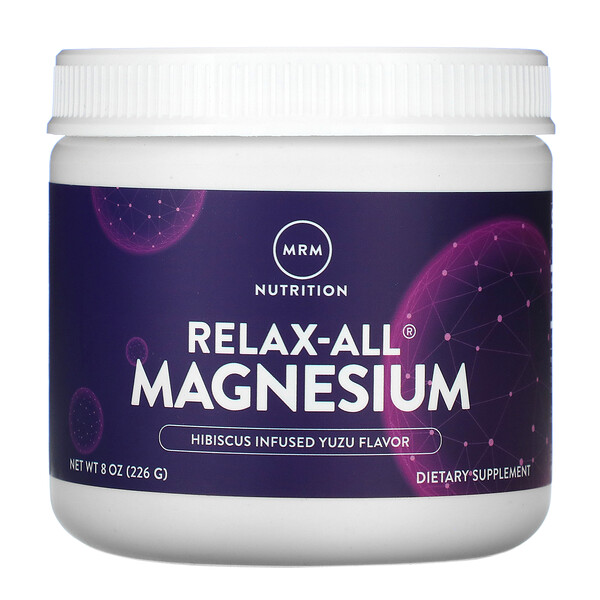 Relax-All Magnesium, Hibiscus Infused Yuzu, 8 oz (226 g)