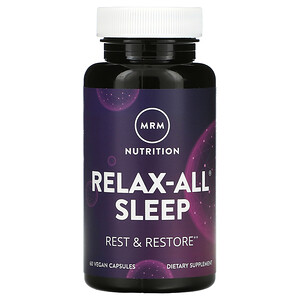 MRM, Relax-All Sleep, 60 Vegan Capsules'